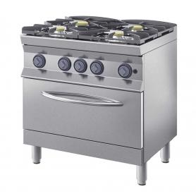 Fornello a gas 4 fuochi con forno