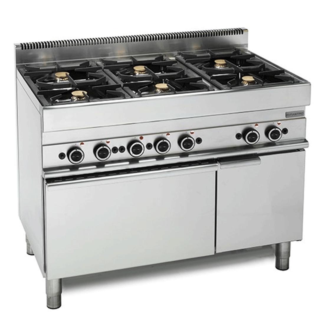 Cucina A Gas Fornello 6 Fuochi Forno Elettrico