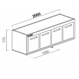 Modulo cella frigo CUBO NUC TN7720 ps310
