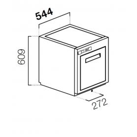 Cella da incasso cubo h 77