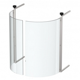 Chiusura in vetro curvo per gyros