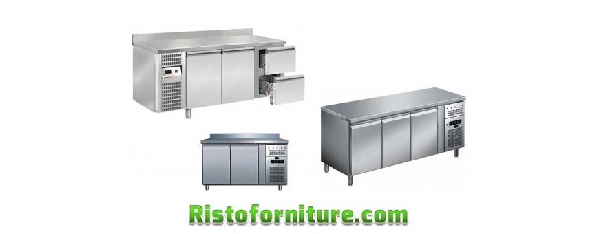 Tavoli refrigerati con porte INOX
