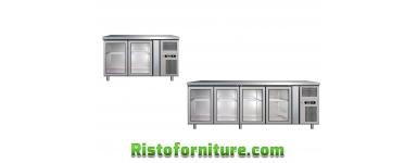 Tavoli refrigerati con porte a VETRO