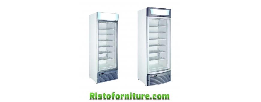 Armadi Frigo e Freezer in acciaio verniciato anta vetro