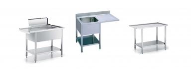 Tavoli inox per lavapiatti